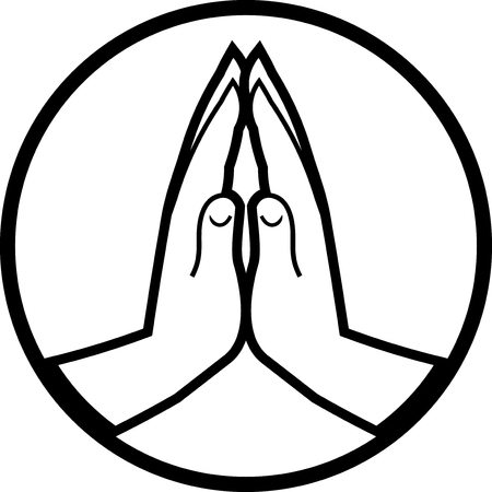 Praying hands vector icon Reklamní fotografie - 52830973