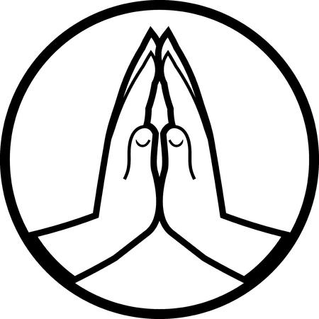 Praying ręce ikon wektorowych