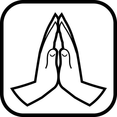 Het bidden handen vector icon