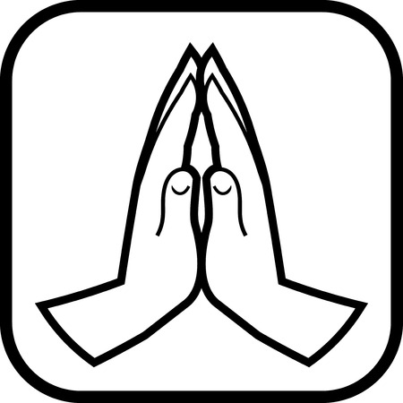 Praying hands vector icon