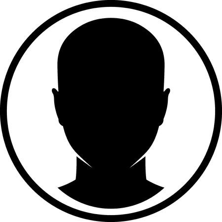 vecteur de tête humain isolé