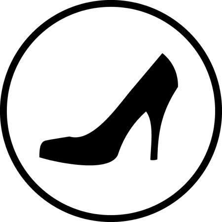 Elegant womens high heel shoe vector isolated