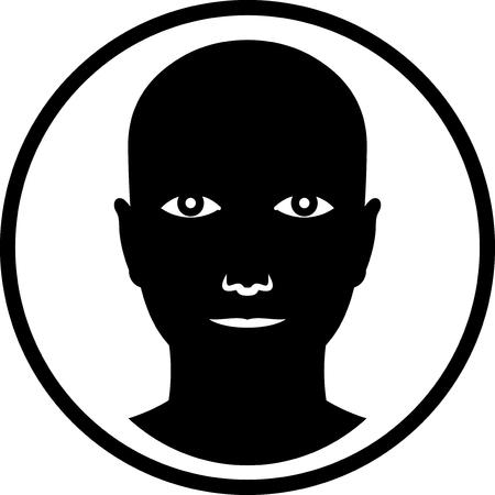 aislado cara de la cabeza humana del vector