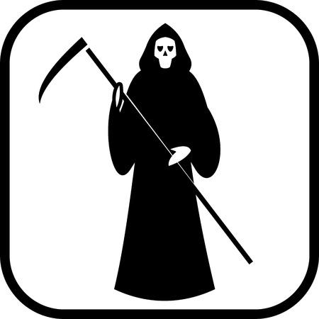 La morte con l'icona scytheman vettore