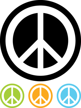 Friedenszeichen Vektor isoliert
