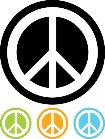 geïsoleerde teken van de vrede vector