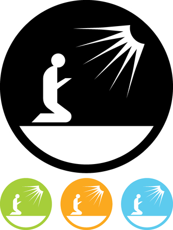 Praying man vector isolated