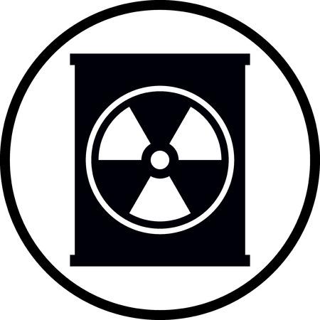 Conteneur de déchets radioactifs vecteur icône