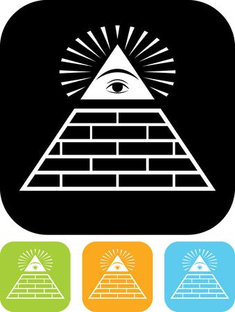 Illuminati masonic symbol vector isolated
