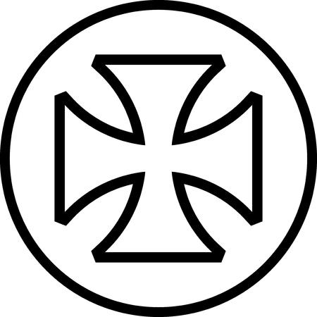 Maltese cross vector icon