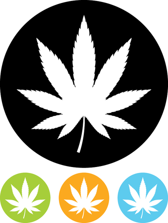 Marijuana vector icon isolated 矢量图像