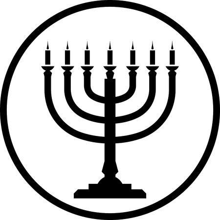 Menorah vector icon