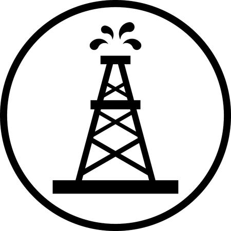 Ölplattform-Vektor-Symbol