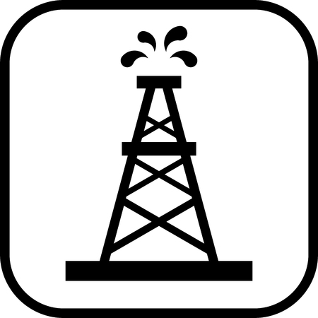 Oil rig vector icon Illustration