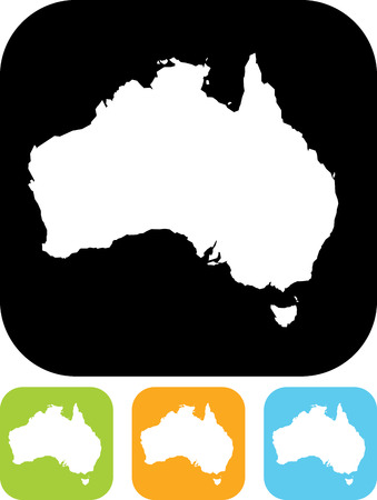 Carte de l'Australie vecteur
