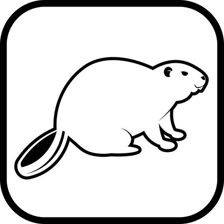 geïsoleerd Beaver vector icon