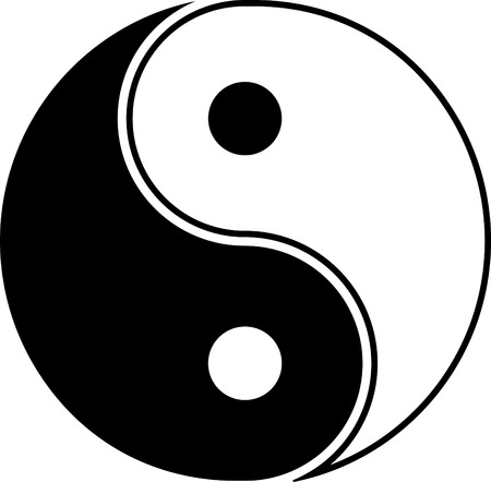 Yin yang symbol vector icon isolated