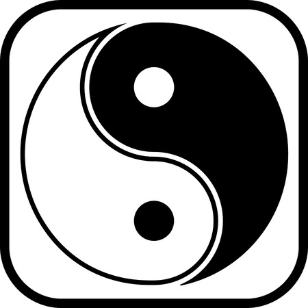 Geïsoleerd yin yang symbool vector icon Stockfoto - 52831583
