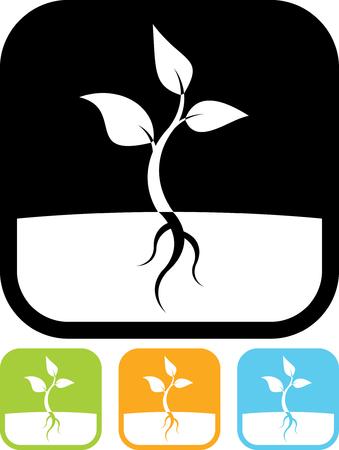 Plant sprout vector icon Ilustração