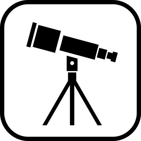 Telescope vecteur icône