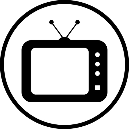 Telewizja ikon wektorowych