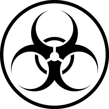 Biohazard Symbol Vector Sign Isolated Royalty Free Cliparts Vectors