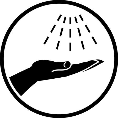 Wash hands vector icon Vettoriali