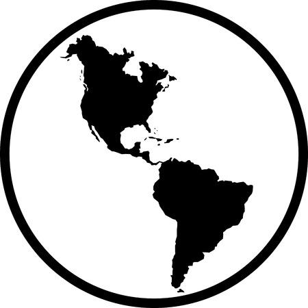 Americas map vector icon