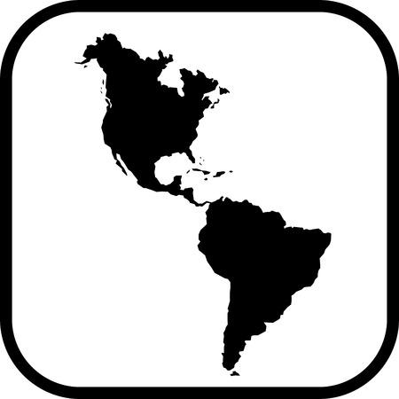 Americas map vector icon Vetores