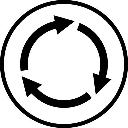 Arrows circle vector icon Illustration