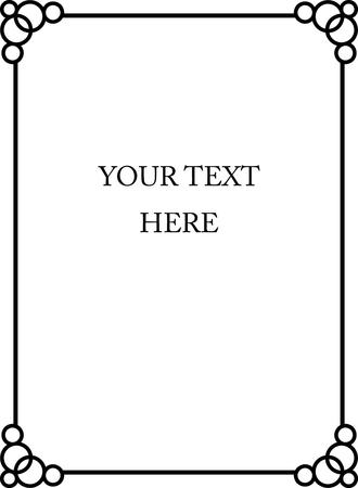Vector frame couverture du livre de la frontière Banque d'images - 52869946