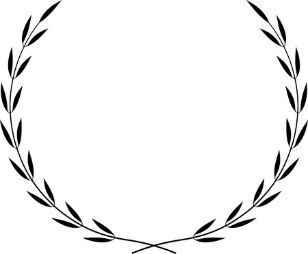 Vector Laurel Wreath Çizim