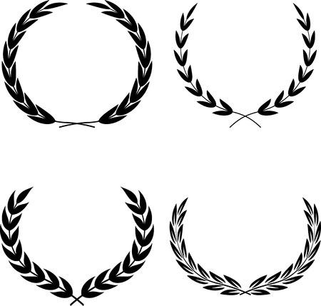 Laurel Wreaths Vector  イラスト・ベクター素材