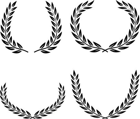 Laurel Wreaths Vector Isolated Reklamní fotografie - 52870171