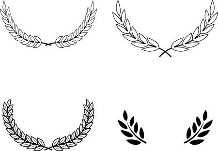 Laurel Wreaths Vector Illustration