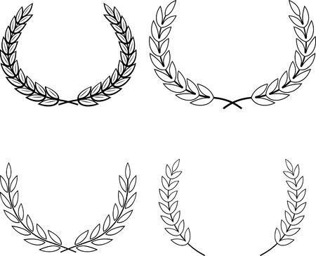 Vector Laurel Wreaths Illustration