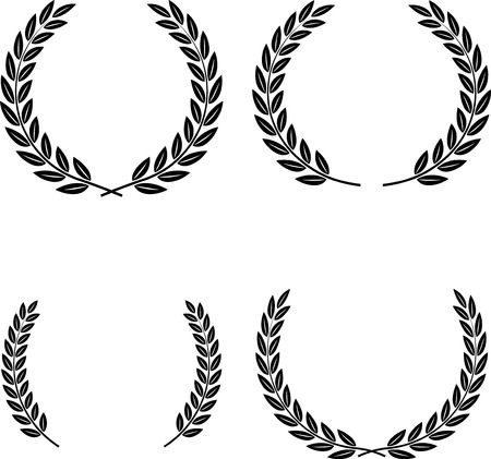 Vector Laurel Wreaths Stock Illustratie