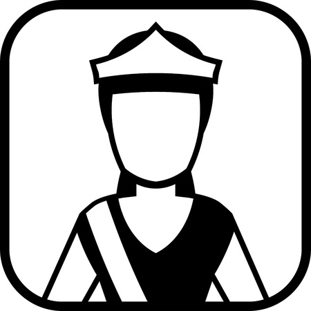 Beauty contest queen vector icon