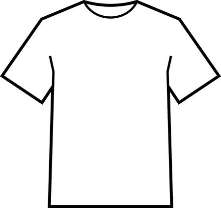 Blank T-Shirt-Vorlage Vektor Vektorgrafik