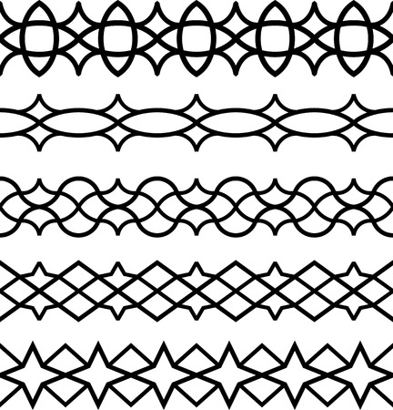 Vector Seamless Border Frame Lines
