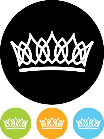 Crown vector isolated Illusztráció