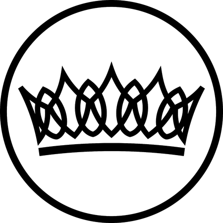 Crown vector isolated Illustration