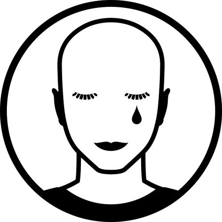 El llanto cara ilustración vectorial Foto de archivo - 52870296