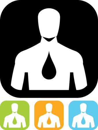 Human body hydration icon Ilustração