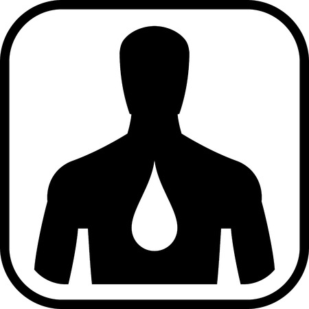 Corps humain hydratation icône