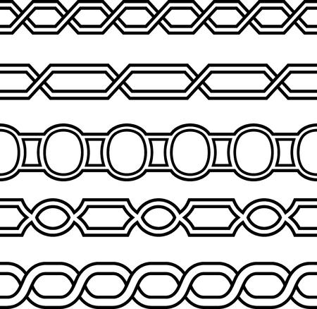 Vector Seamless Border Frame Lines