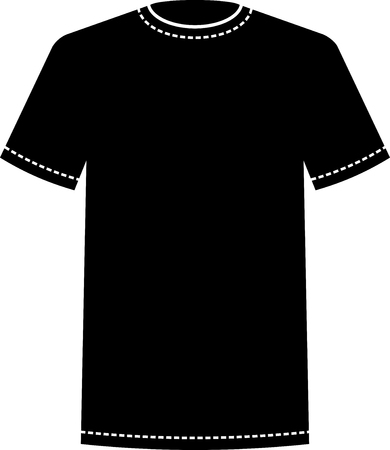 Blank Black T Shirt Template Vector Royalty Free Cliparts Vectors And Stock Illustration Image 52870724