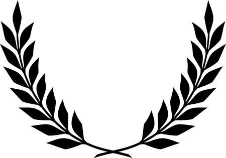 Vector Laurel Wreath Stock Illustratie