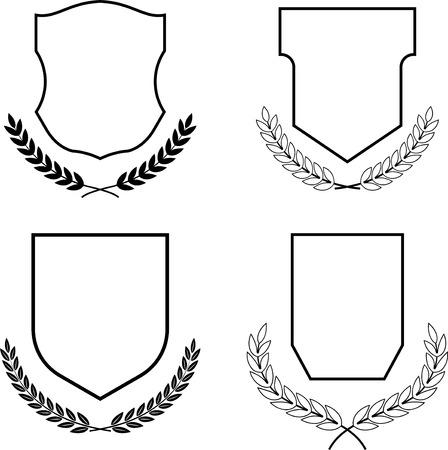 Escudo de vector de los brazos