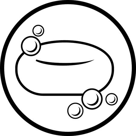 Soap bar vector Çizim